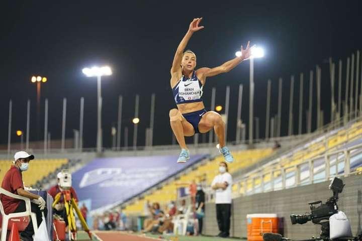 Марина Бех-Романчук з найкращим результатом сезону виграла етап Діамантової ліги в Досі