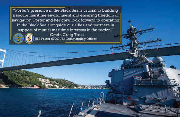 Есмінець США USS PORTER прямує в Чорне море на спільні українсько-грузинсько-натівські навчання