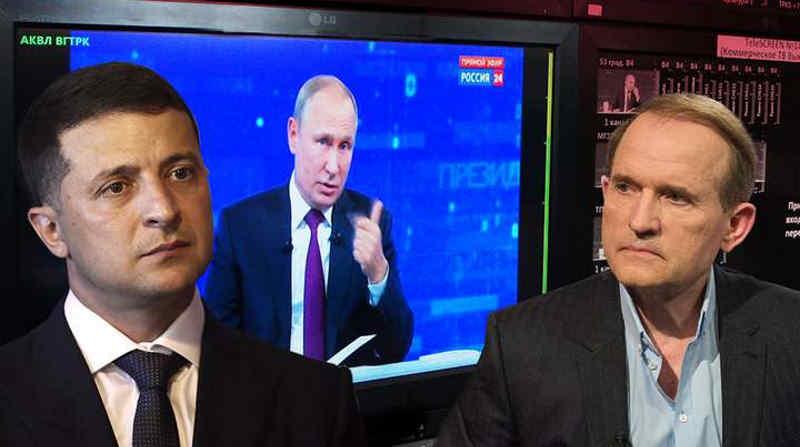 У Зеленського кажуть, що не домовлялися з Медведчуком, джерела журналістів стверджують протилежне