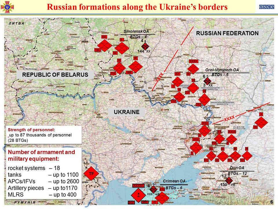 Україна в ОБСЄ: Росія має на кордоні три угруповання військ, здатних до раптового наступу