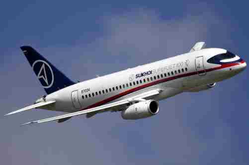 Ще один літак SSJ-100 на Московії не долетів до пункту призначення