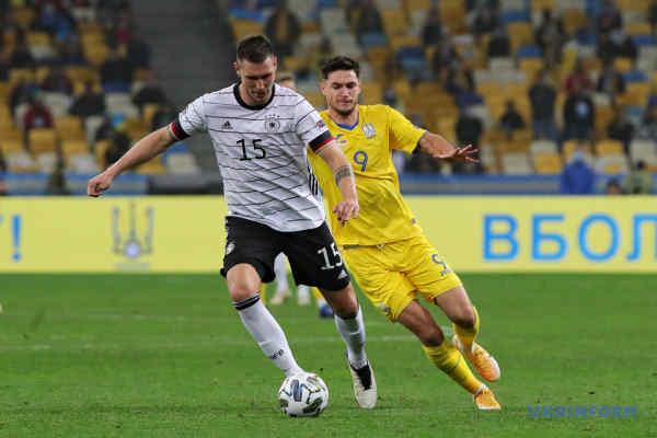 Збірна України поступилася команді Німеччини у матчі Ліги націй УЄФА