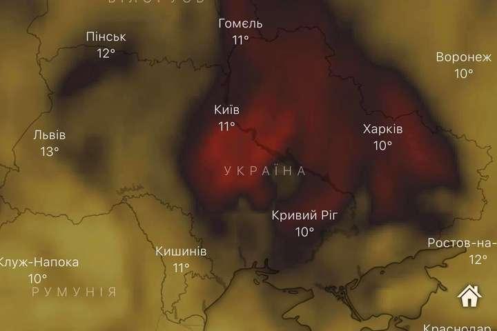Над Україною зафіксували аномально високий рівень чадного газу
