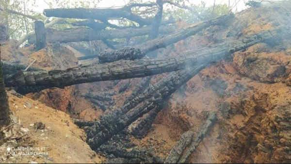 Російські окупанти знищили позиції ЗСУ у Красногорівці, згоріло 6 бліндажів