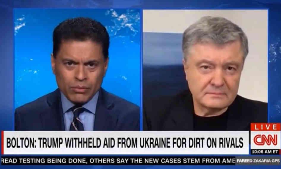 Спроби зруйнувати стратегічне партнерство України і США – це російський сценарій, - Петро Порошенко в інтерв'ю CNN
