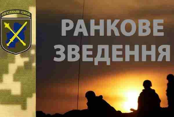 ООС: Ранкове зведення з фронту на 07:00 3 липня 2019 року
