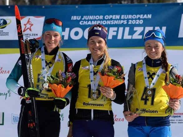 Українка стала чемпіонкою Європи серед юніорського біатлону