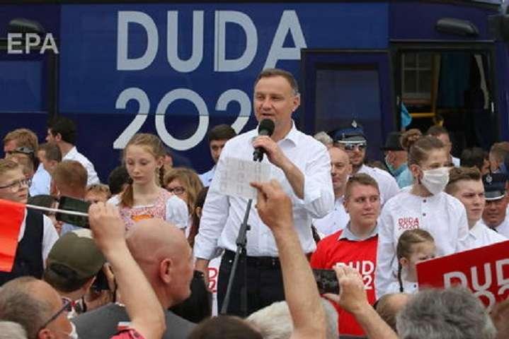 Вибори у Польщі: Дуда попередньо отримує результат трохи вищий, ніж за екзит-полами