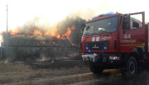 На Харківщині палає 500 гектарів лісу, одне село повністю знищене пожежею