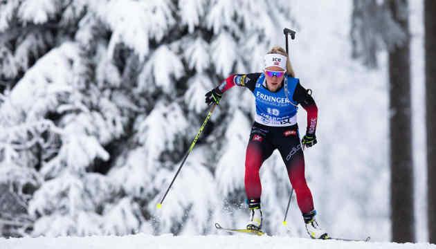 Екгофф виграла персьют Кубка світу з біатлону, Джима - чотирнадцята
