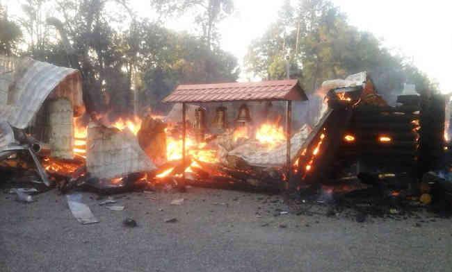 Церква Московського патріархату згоріла дотла на Дніпропетровщині, - ДСНС