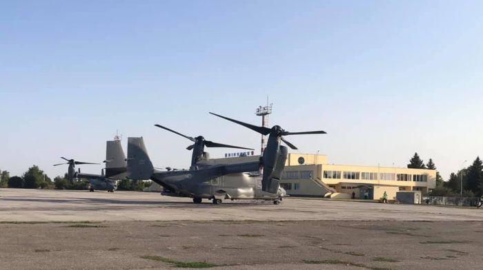 У Вінниці вперше приземлилися американські конвертоплани Osprey