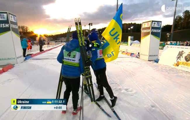 Збірна України з біатлону стала чемпіоном Європи у змішаній естафеті