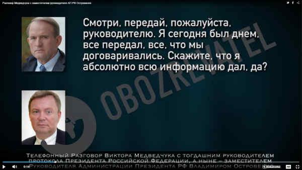 Опубліковано нове аудіо розмови Медведчука з чиновником РФ про