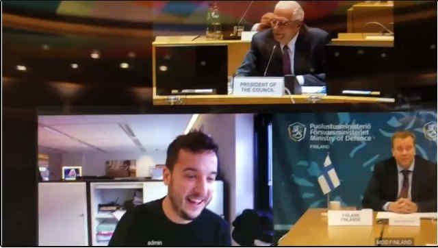 Секретну відеоконференцію міністрів оборони ЄС перервав журналіст, який підібрав код доступу