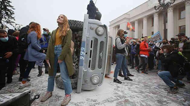 Протест під Кабміном: поліція затримала 8 осіб