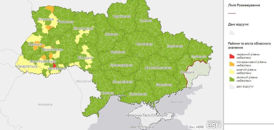 Україну поділили на чотири зони карантину – які міста потрапили до червоної